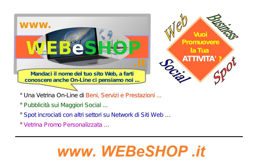 WEBeSHOP-Bigliettino-Pubblicita-Spot-Promo-Web-Online-Shop-Shopping-Commerce-Cisa-Servizi